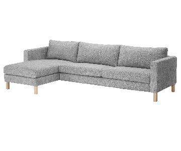 Ikea Karlstad Sectional in Isunda Gray