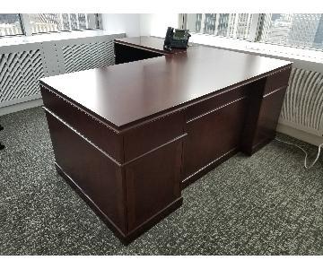 Wood L Shaped Executive Desk