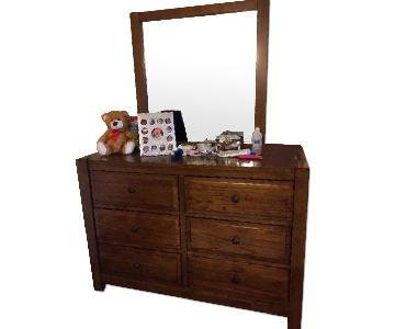 Ashley's 6 Drawer Dresser w/ Mirror