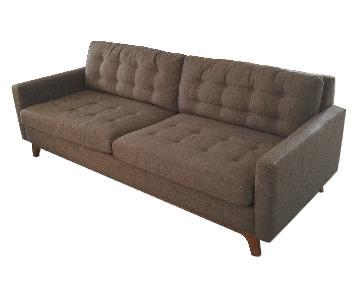 Macy's Dark Grey Mid-Century Style Sofa