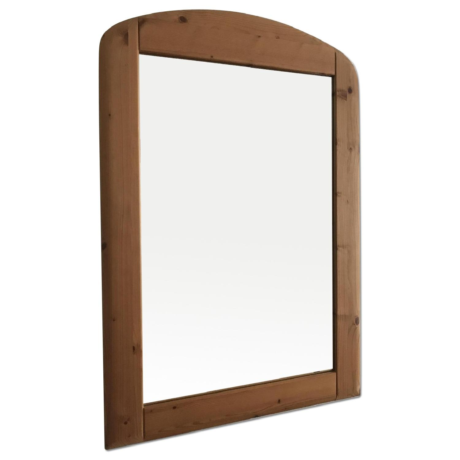 German Solid Pine Wood Framed Mirror
