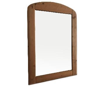 German Solid Pine Wood Framed Mirror