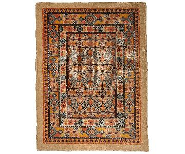 Antique 1900s Persian Camel Hair Rug