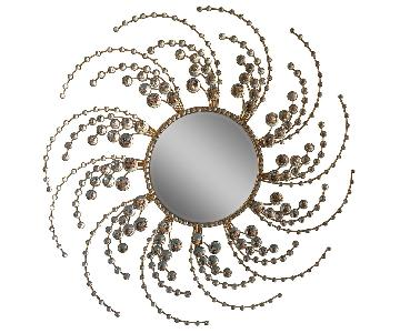 Decorative Starburst Metal Wall Mirror