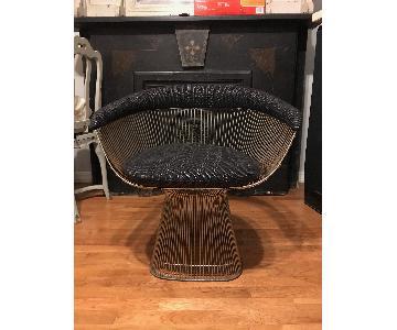 Vintage Platner Armchair Reupholstered w/ DavidAdjaye Fabric