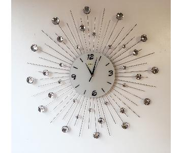 Crystal Large Metal Circle Wall Clock