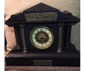 Neoclassical Slate Mantle Clock