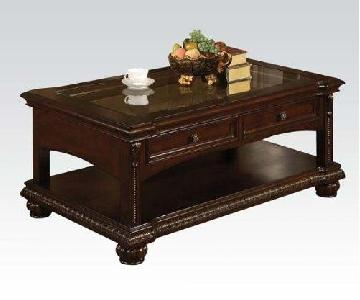 Large Traditional Style Coffee Table in Cherry Finish