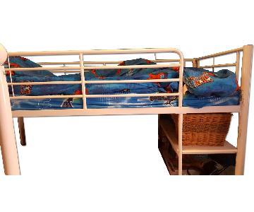 Walker Edison Loft Twin Bed Frame w/ Bottom Shelving