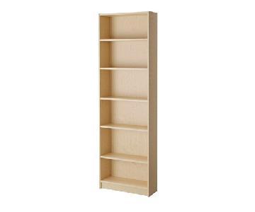 Ikea Billy Slim Bookcase in Birch Veneer