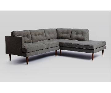 West Elm Peggy 2 Piece Sectional Sofa