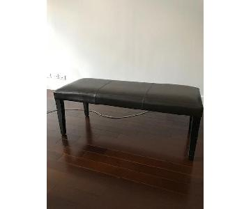 Crate & Barrel Faux Leather Bench
