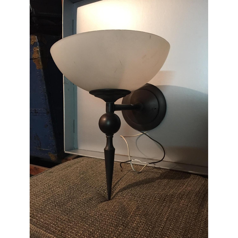 Single Bulb Brass Sconce - image-1