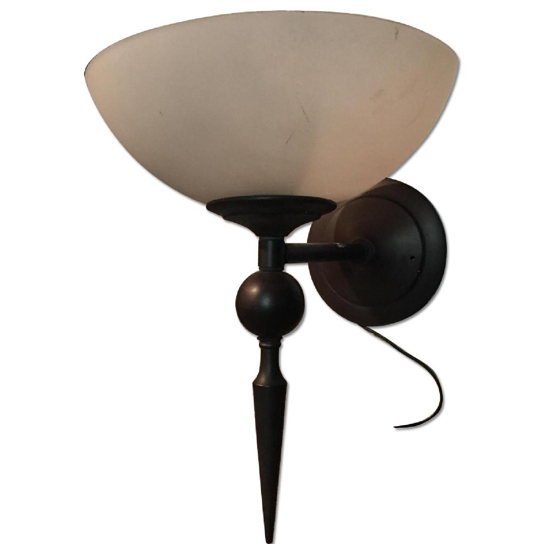 Single Bulb Brass Sconce - image-0