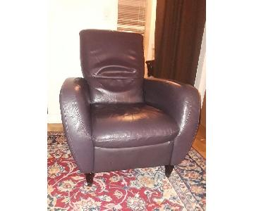 Macy's Almafi Leather Recliner
