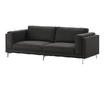 Ikea Nockeby Sofa & Footstool