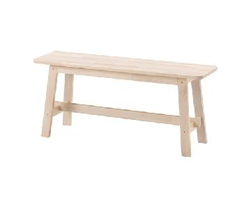 Ikea Norraker Natural Wood Entryway Bench