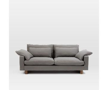 West Elm Harmony 2.5 Seater Sofa in Eco Weave Pewter