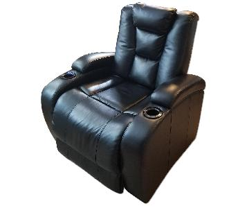 Black Leather Power Recliner