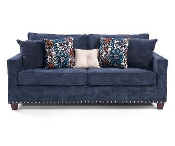 Bob's Melanie Blue Sofa