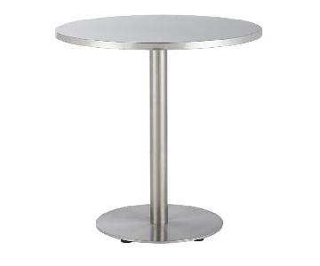 CB2 Watermark Stainless Steel Bistro Table