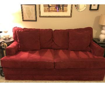 Jennifer Convertible Red Queen Sleeper Sofa