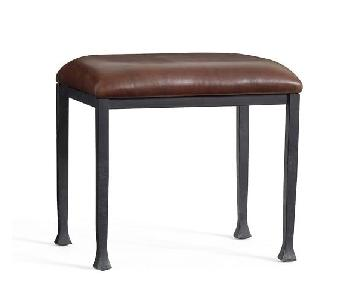 Pottery Barn Tanner Leather Stool