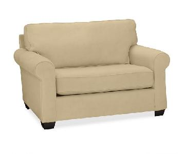 Pottery Barn Buchanan Roll Arm Upholstered Twin Sleeper Sofa