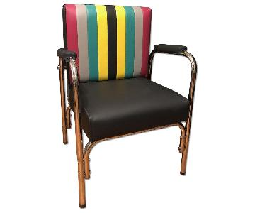 Reupholstered Mid Century Reclining Armchair