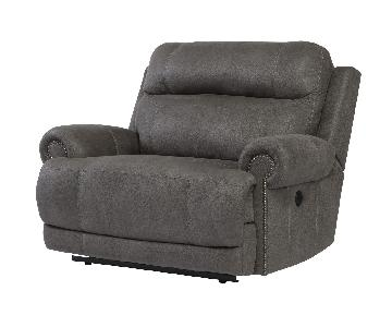 Ashley's Austere Zero Wall Recliner in Gray