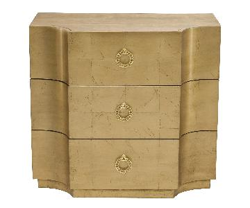 Bernhardt Jet Set Chest in Gold Leaf