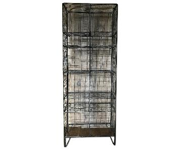 Circa 1940s 12-Cubby Wire News Stand/Display Rack