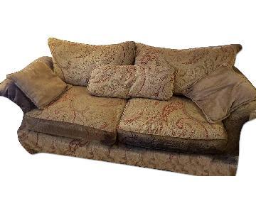 Bernhardt Paisley Fabric Upholstered Sofa