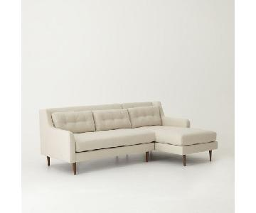 west elm crosby 2 piece sectional sofa  sc 1 st  theloanz.com : west elm crosby sectional - Sectionals, Sofas & Couches