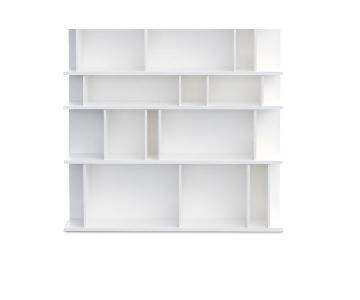 BoConcept Como Matte White Lacquered Bookcase