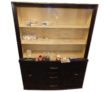 China Cabinet w/ Sliding Glass Doors