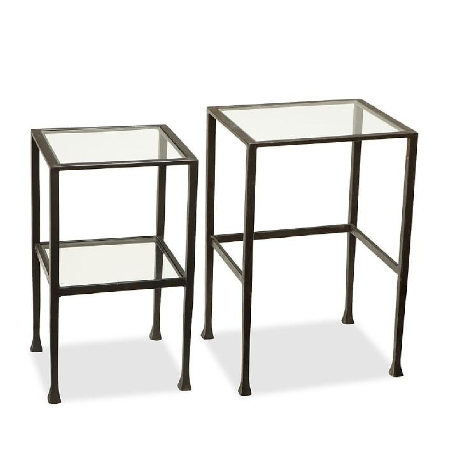 Pottery barn tanner rectangular coffee table aptdeco pottery barn tanner nesting tables geotapseo Image collections