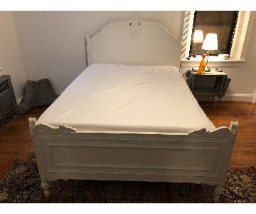 Antique Distressed Full Size Bed Frame