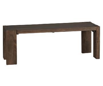 CB2 Blox Wood Bench