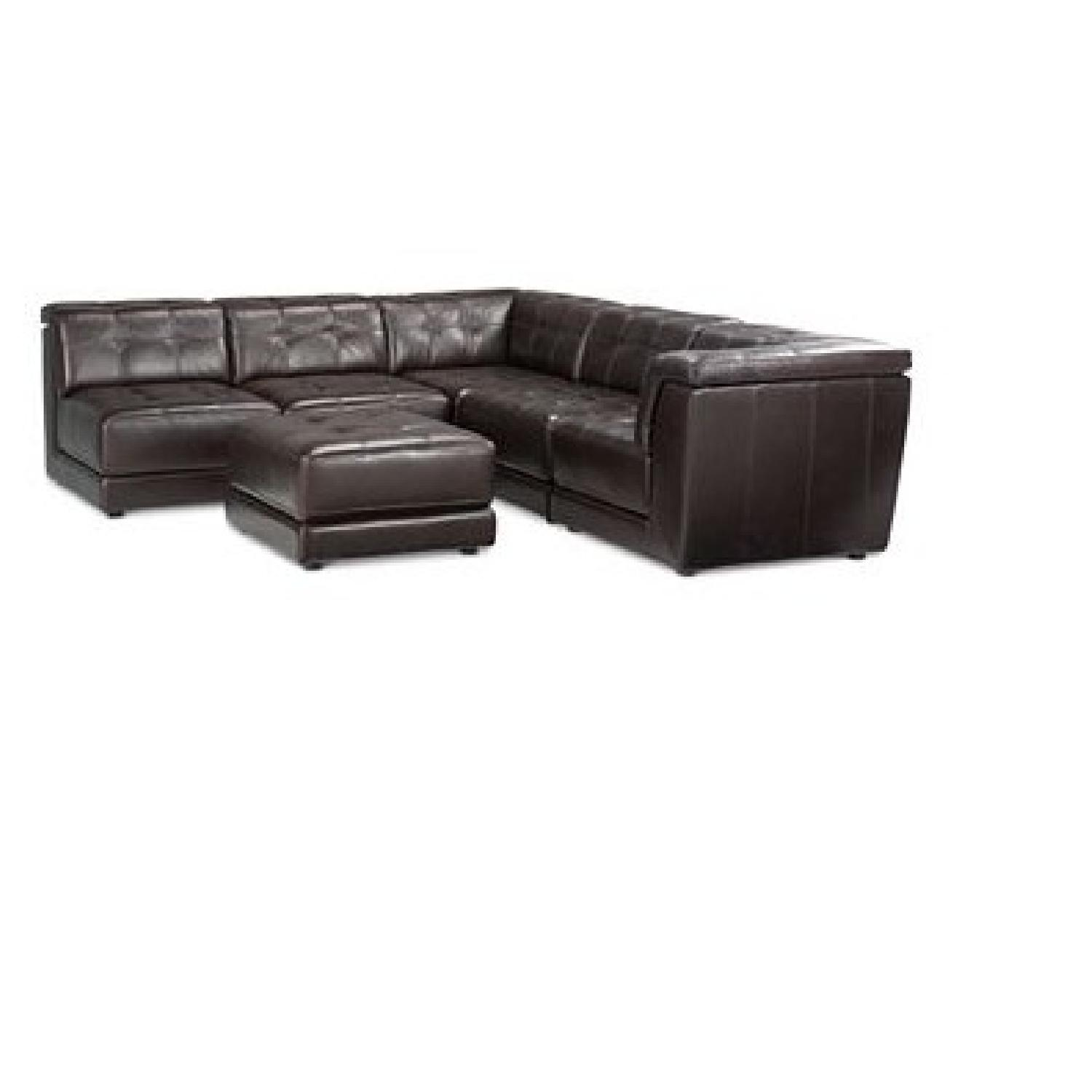 Macyu0027s Stacey Leather 6 Piece Sectional Sofa ...  sc 1 st  AptDeco : sectional sofa macys - Sectionals, Sofas & Couches