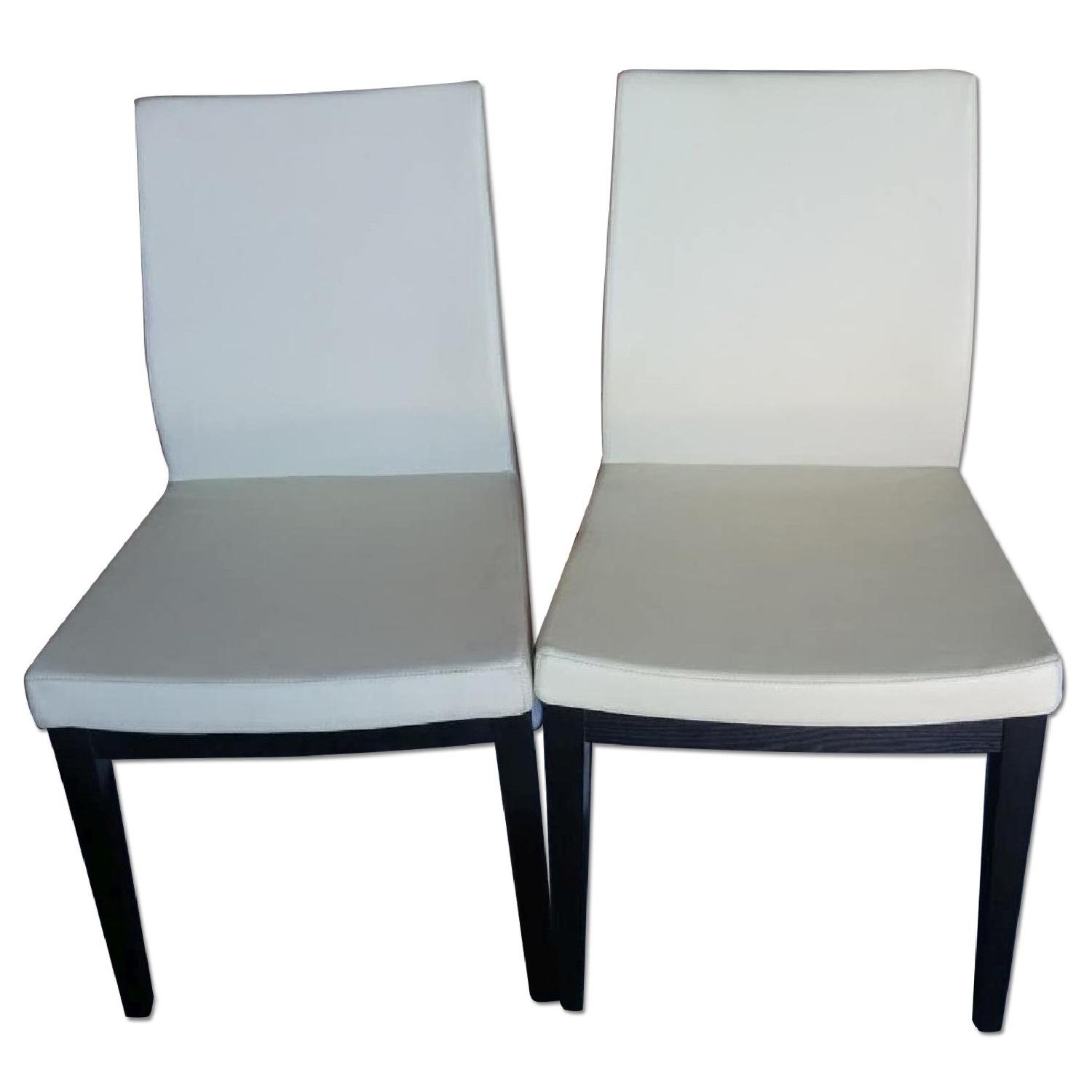 sohoConcept Aria Modern Dining Chair in Cream Leatherette