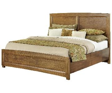 All-American Transitions King Panel Bed in Dark Oak