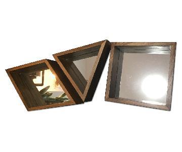 West Elm Geometric Wood Wall Mirrors