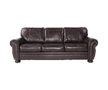 Ashley's Banner Sleeper Sofa in Coffee