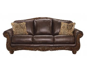Ashley's Mellwood Sofa in Walnut