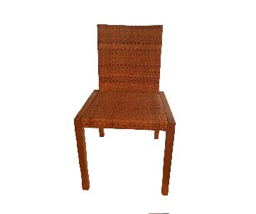 Wood Woven Dining Chair