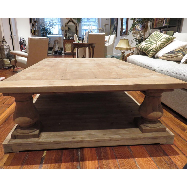 Crate Barrel Balustrade Salvaged Wood Coffee Table Aptdeco