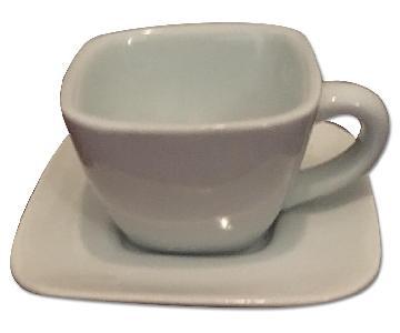 Crate & Barrel Tea Cups & Saucers