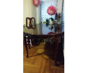 Solid Wood Oval Leg Dining Table