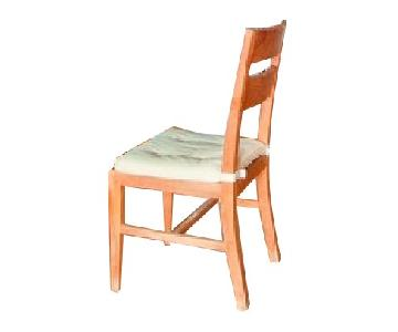 Crate & Barrel Wood Dining Chair